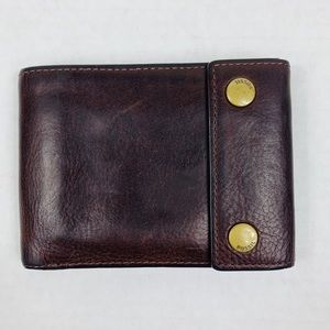 Fossil Leather Snap Button Wallet